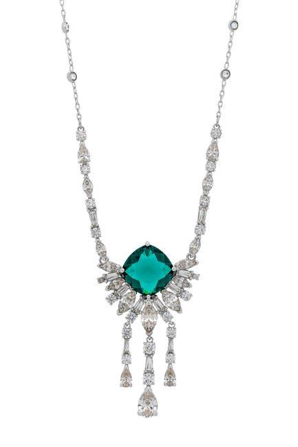 Image of Swarovski Palace Rhodium Plated Swarovski Crystal Pendant Necklace
