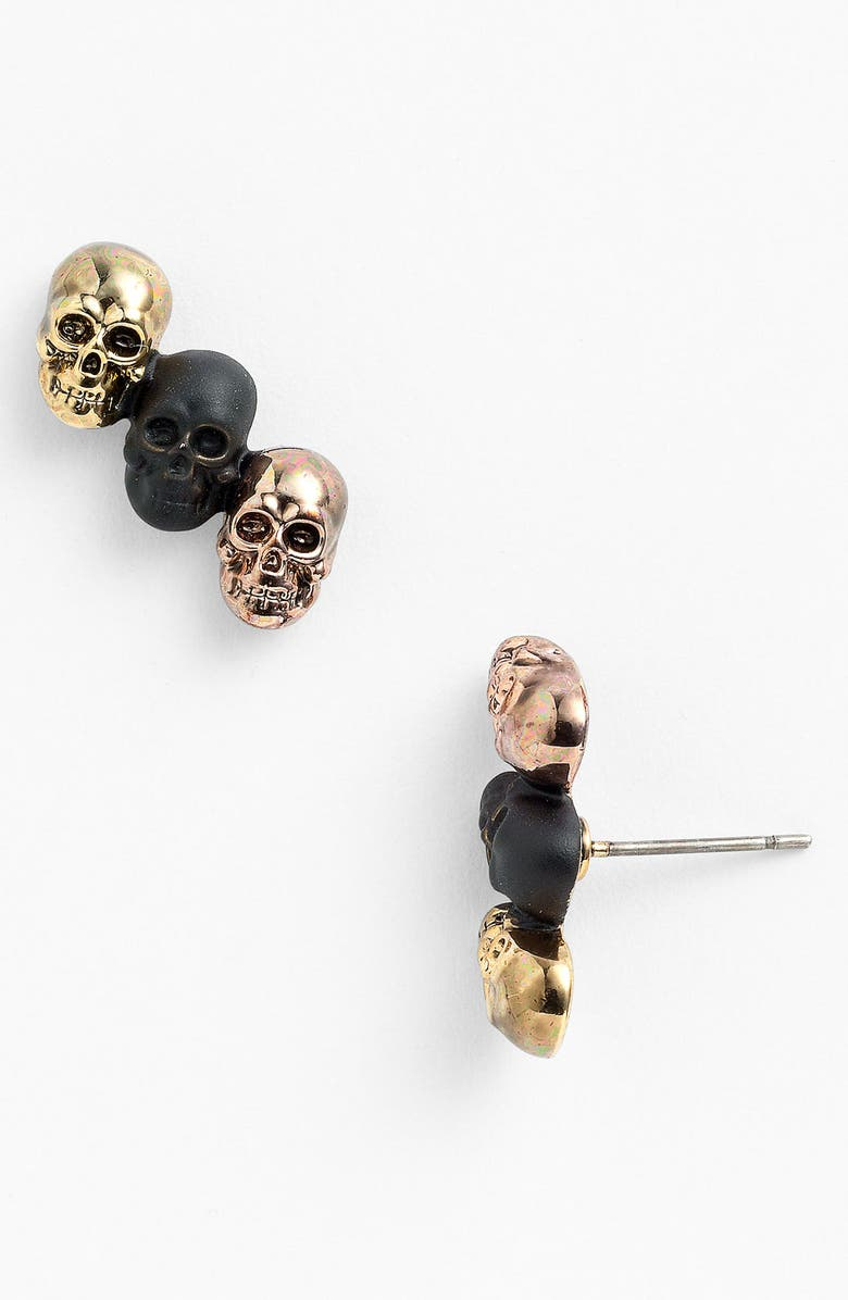 HOUSE OF HARLOW 1960 'Triple Skull' Stud Earrings, Main, color, 710