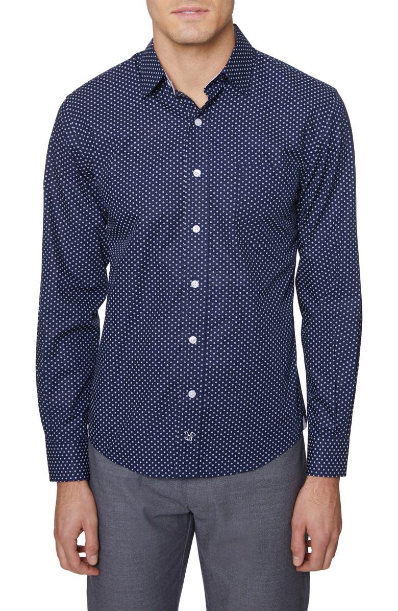 HICKEY FREEMAN Print Regular Fit Shirt, Main, color, 410