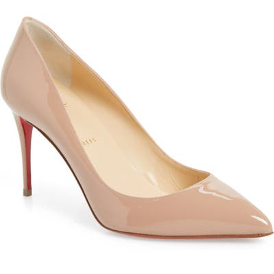 Christian Louboutin Pigalle Follies Pointy Toe Pump, Beige