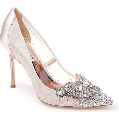 Badgley Mischka Quintana Crystal Embellished Pump- Ivory