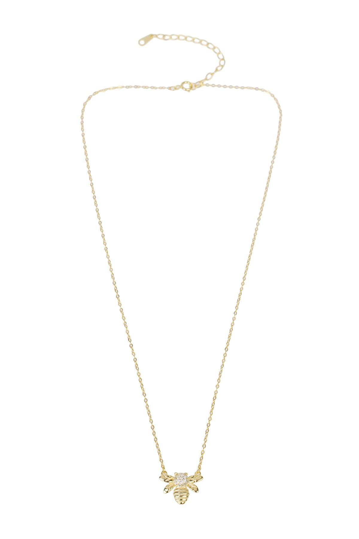 Image of CZ By Kenneth Jay Lane CZ Bee Necklace