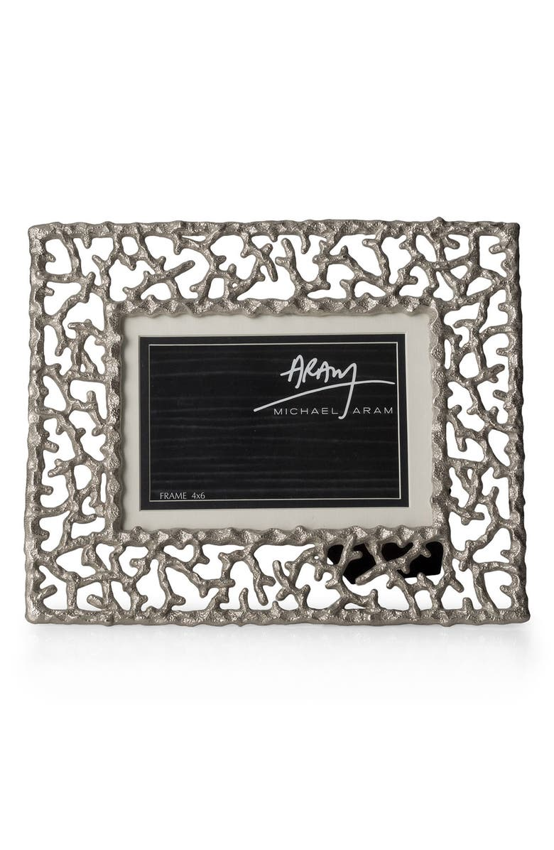 MICHAEL ARAM Ocean Reef Picture Frame, Main, color, SILVER