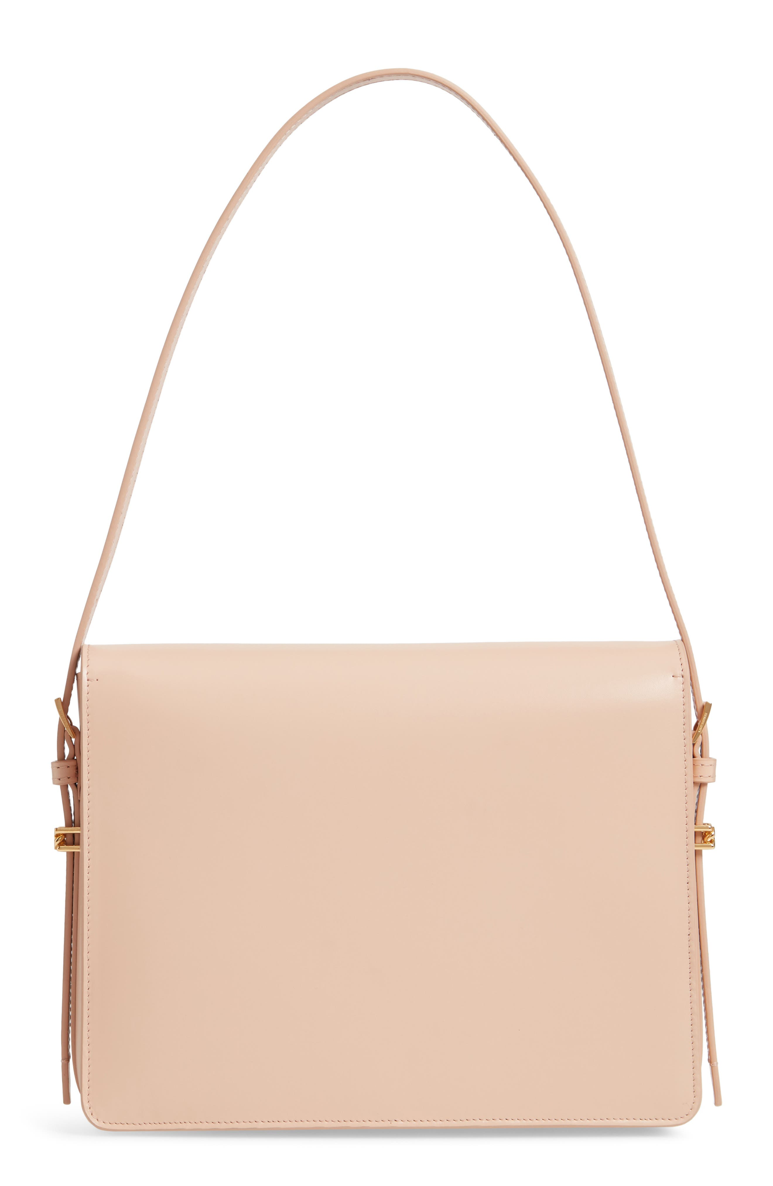 ,                             Large Grace Leather Shoulder Bag,                             Alternate thumbnail 3, color,                             SOFT BLUSH