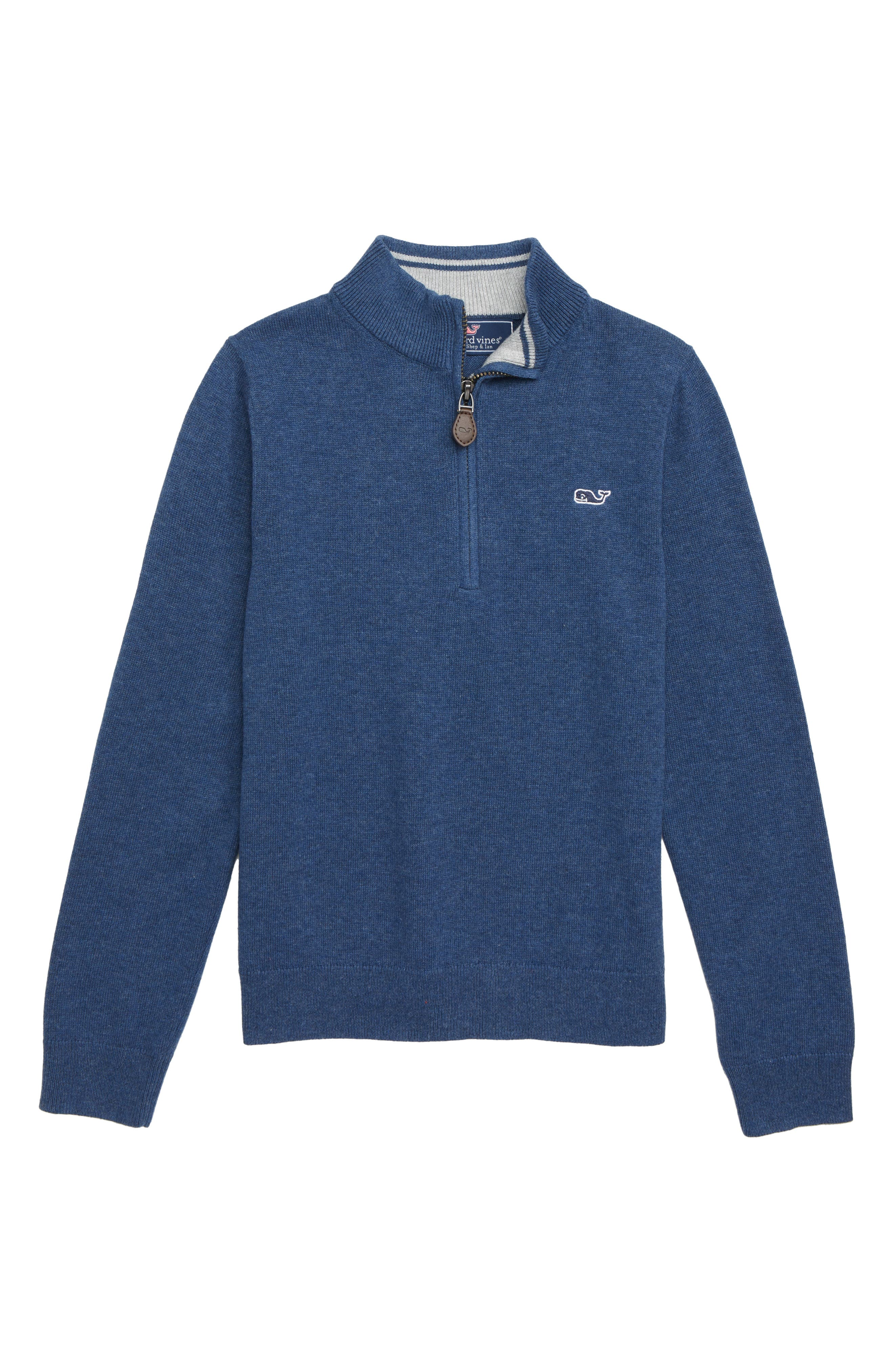 Boys Vineyard Vines Half Zip Sweater Size 5  Blue