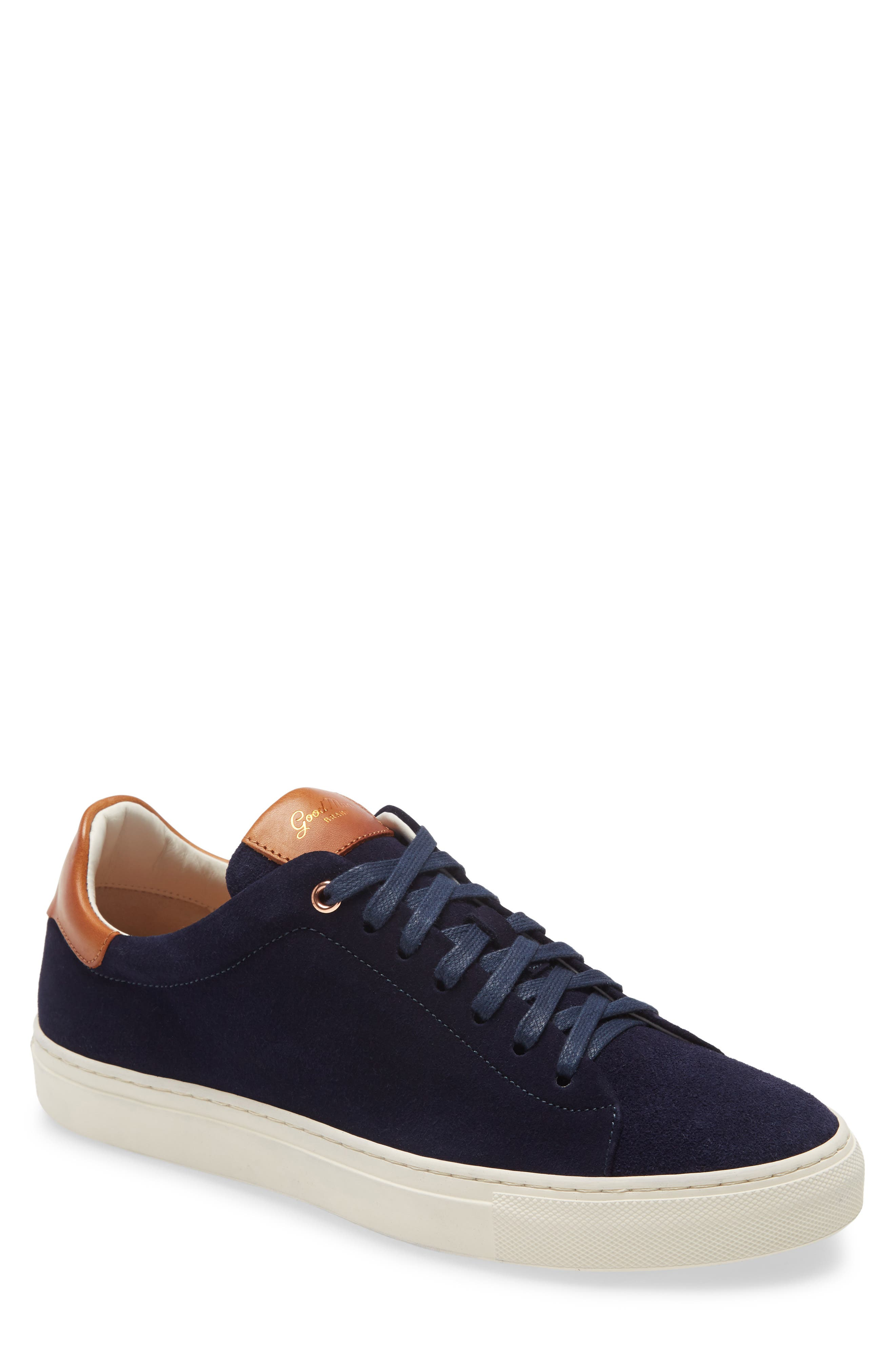 Rose-goldtone grommets punctuate the top of the laces on this Italian-crafted sneaker distinguished by luxe suede and its clean lines. Style Name: Good Man Brand Legend Low-Top Sneaker (Men). Style Number: 5922407. Available in stores.