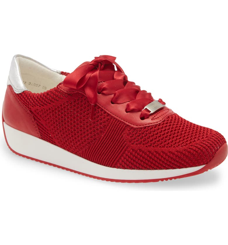 ARA Lilly Sneaker, Main, color, RED FABRIC