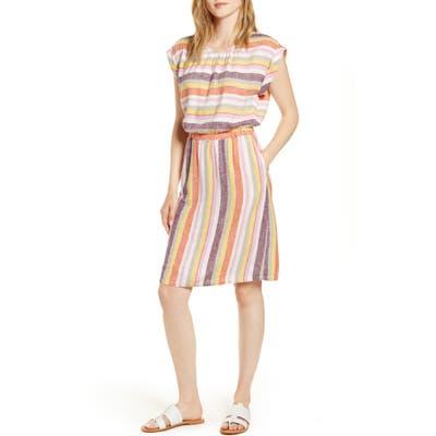 Caslon Stripe Linen Dress