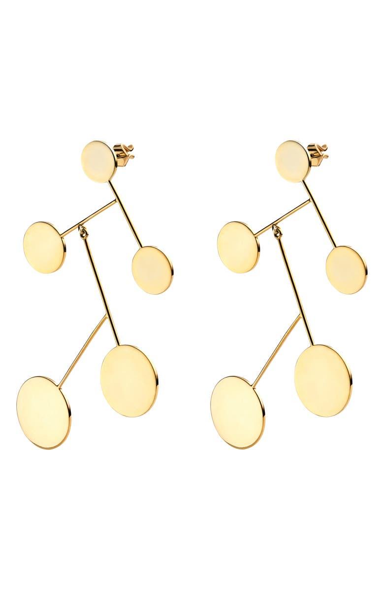 MIANSAI Xander Drop Earrings, Main, color, POLISHED GOLD