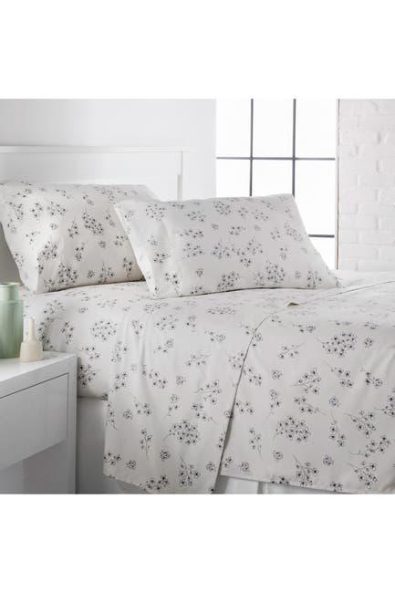 Image of SOUTHSHORE FINE LINENS King Premium Collection Printed Deep Pocket Sheet Sets - Sweet Florals Lunar Grey