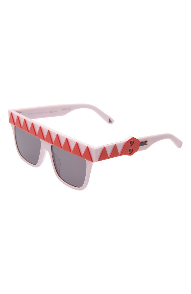 STELLA MCCARTNEY KIDS 50mm Square Sunglasses, Main, color, RED