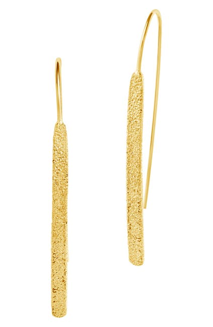 Image of Sterling Forever 14K Gold Vermeil Plated Sterling Silver Textured Threader Earrings