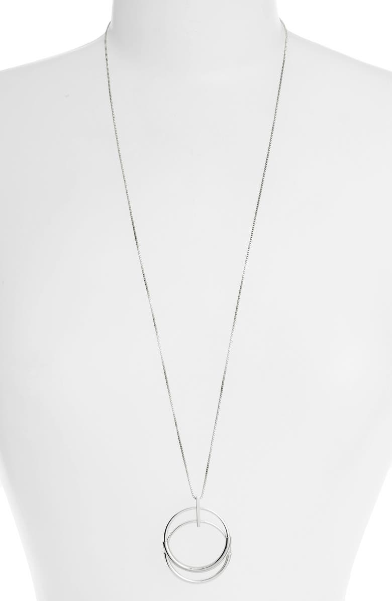 JENNY BIRD Mini Lola Pendant Necklace, Main, color, HIGH POLISH SILVER