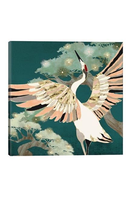 Image of iCanvas Golden Crane by SpaceFrog Designs