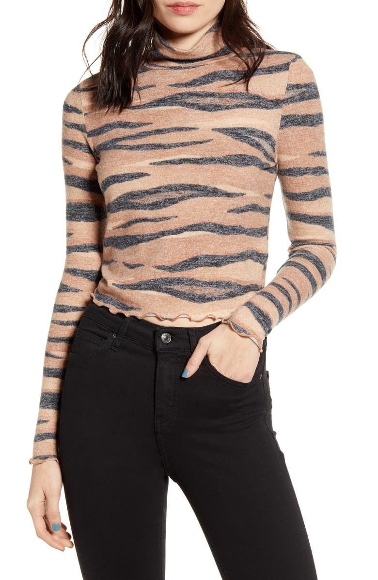 LOVE, FIRE Stripe Mock Neck Top, Main, color, 200