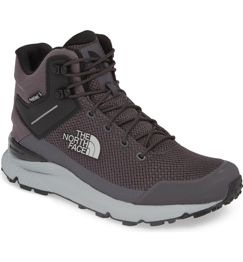 THE NORTH FACE Val Mid Waterproof Hiking Boot, Main, color, BLACKENED PEARL/ BLACK