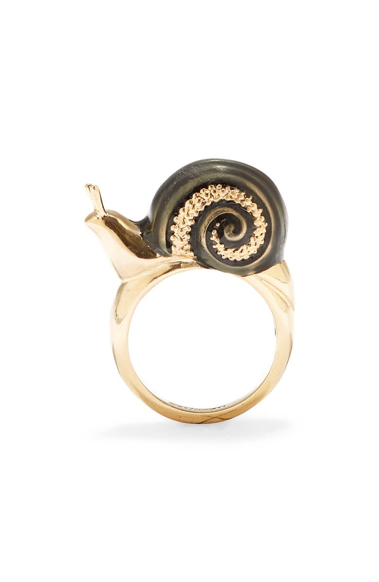 SOLE SOCIETY Snail Ring, Main, color, 12K SOFT POLISH GOLD/CRYSTAL