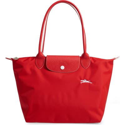 Longchamp Le Pliage Club Small Shoulder Tote - Red