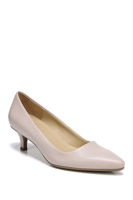 Image of Naturalizer Gia Leather Kitten Heel Pump - Wide Width Available