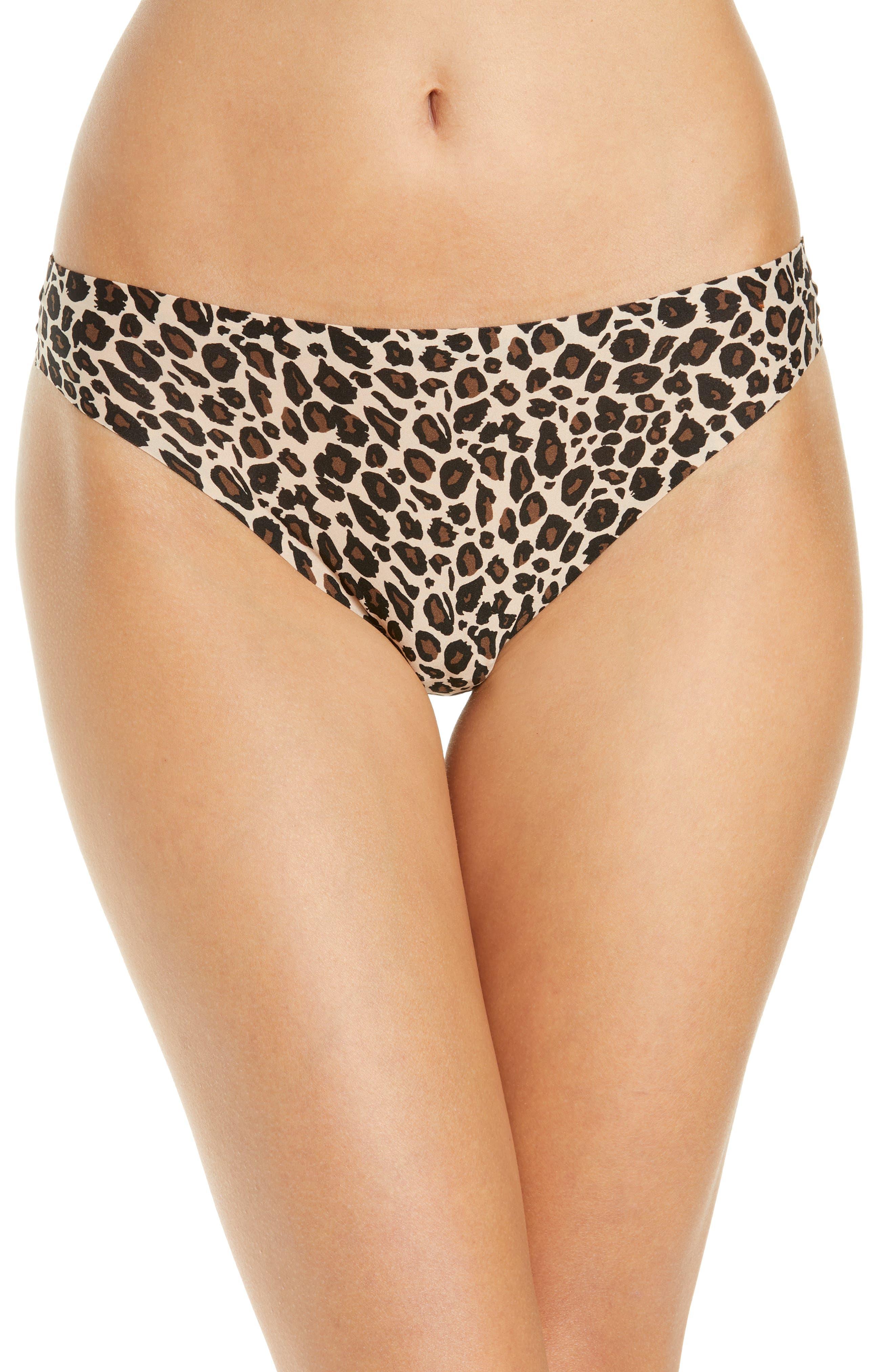 Soft Leopard Print Thong