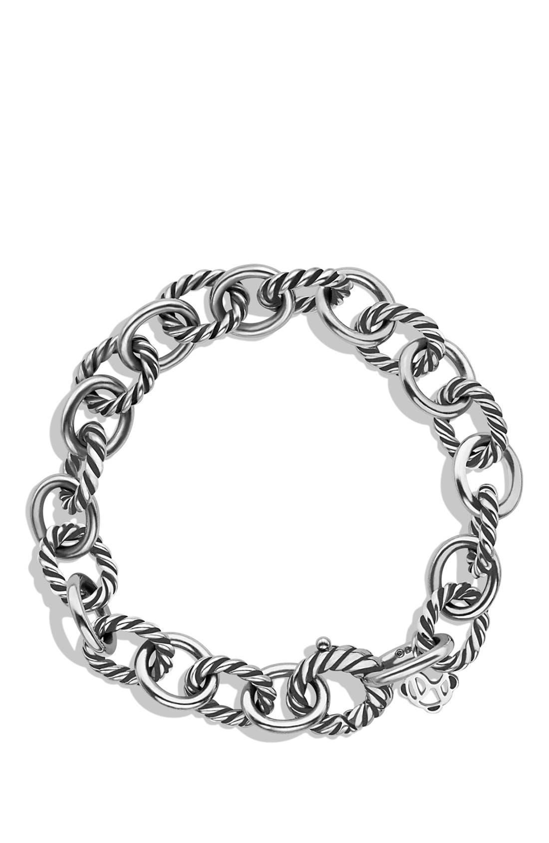 ,                             'Oval' Link Bracelet,                             Alternate thumbnail 3, color,                             SILVER