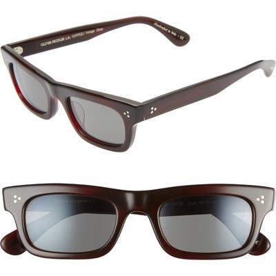 Oliver Peoples Jaye 50Mm Rectangle Sunglasses - Bordeaux Bark/ Carbon Grey
