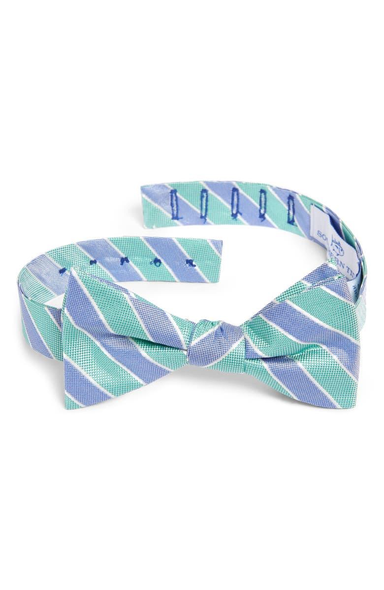 SOUTHERN TIDE Charlottesville Stripe Silk Bow Tie, Main, color, 400