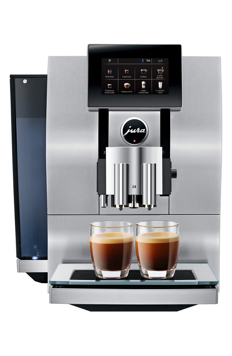 JURA Z8 Automatic Coffee Machine, Main, color, ALUMINUM