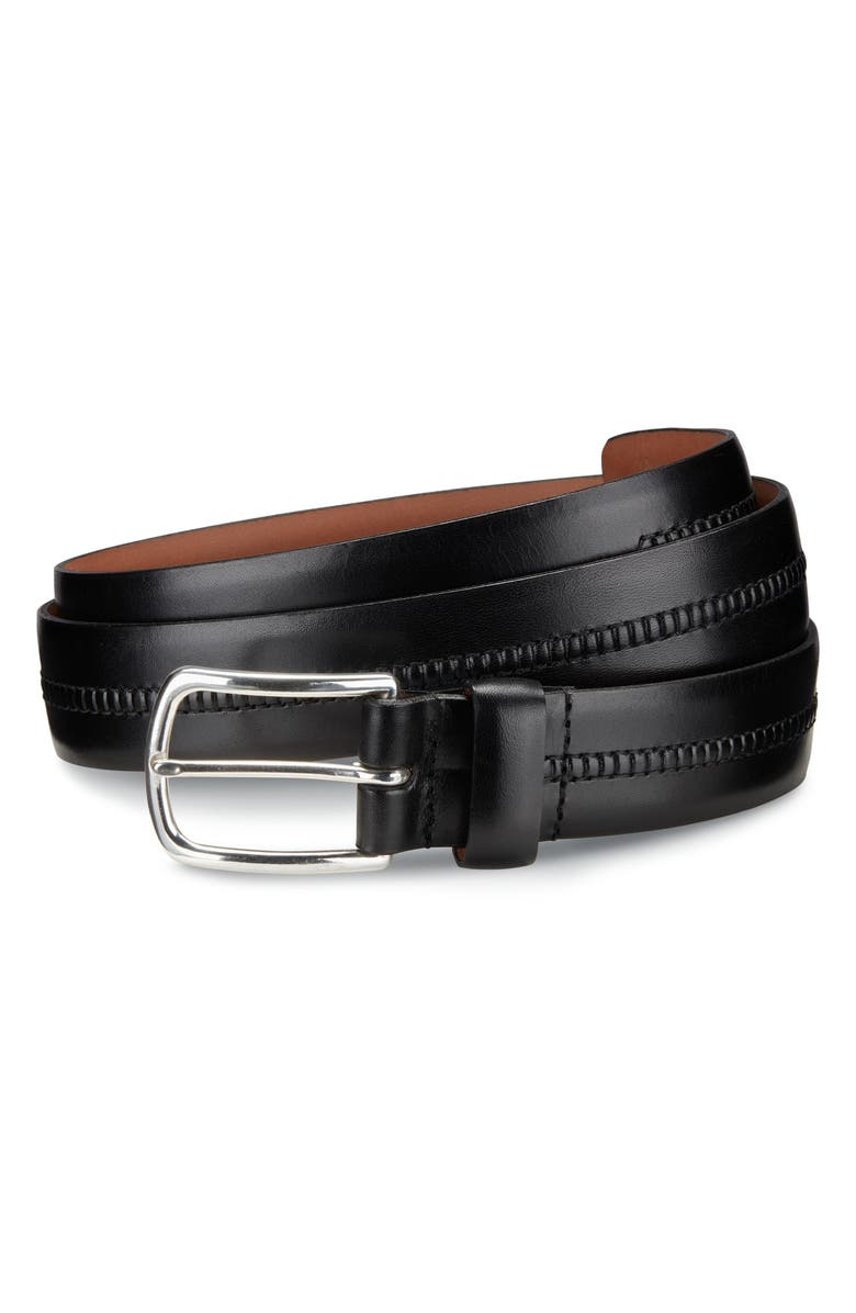ALLEN EDMONDS Cambridge Ave Leather Belt, Main, color, 001
