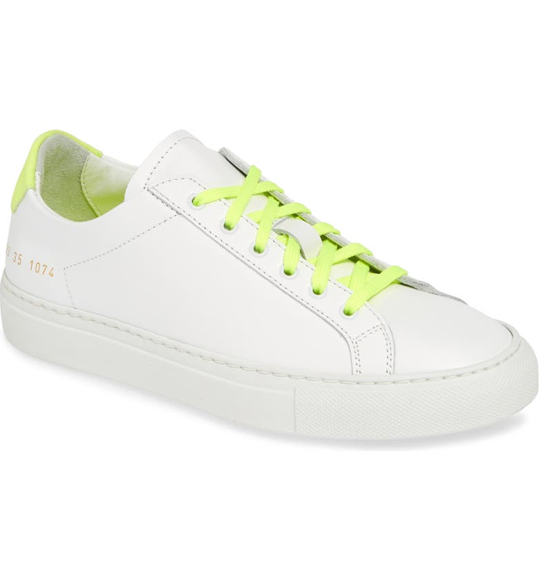 COMMON PROJECTS Retro Low Top Sneaker, Main, color, 101