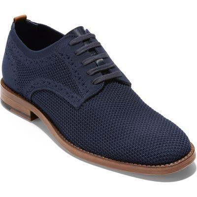Cole Haan Feathercraft Grand Stitchlite Plain Toe Derby- Blue