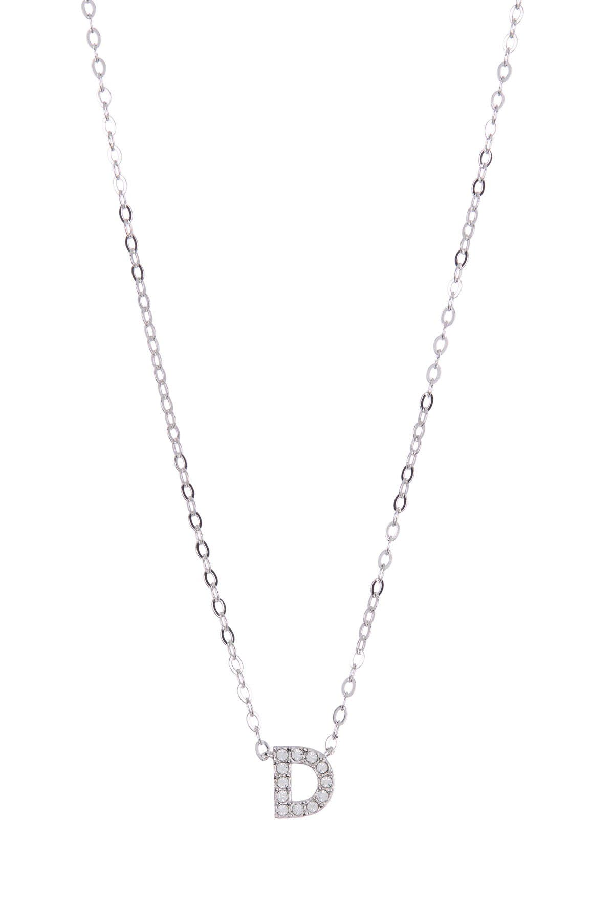 Image of NADRI Pave CZ Initial Pendant Necklace