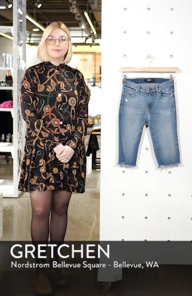 Amelia Knee Length Cutoff Denim Shorts, sales video thumbnail