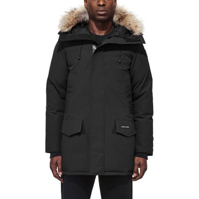 Canada Goose Langford Slim Fit Down Parka With Genuine Coyote Fur Trim, Black