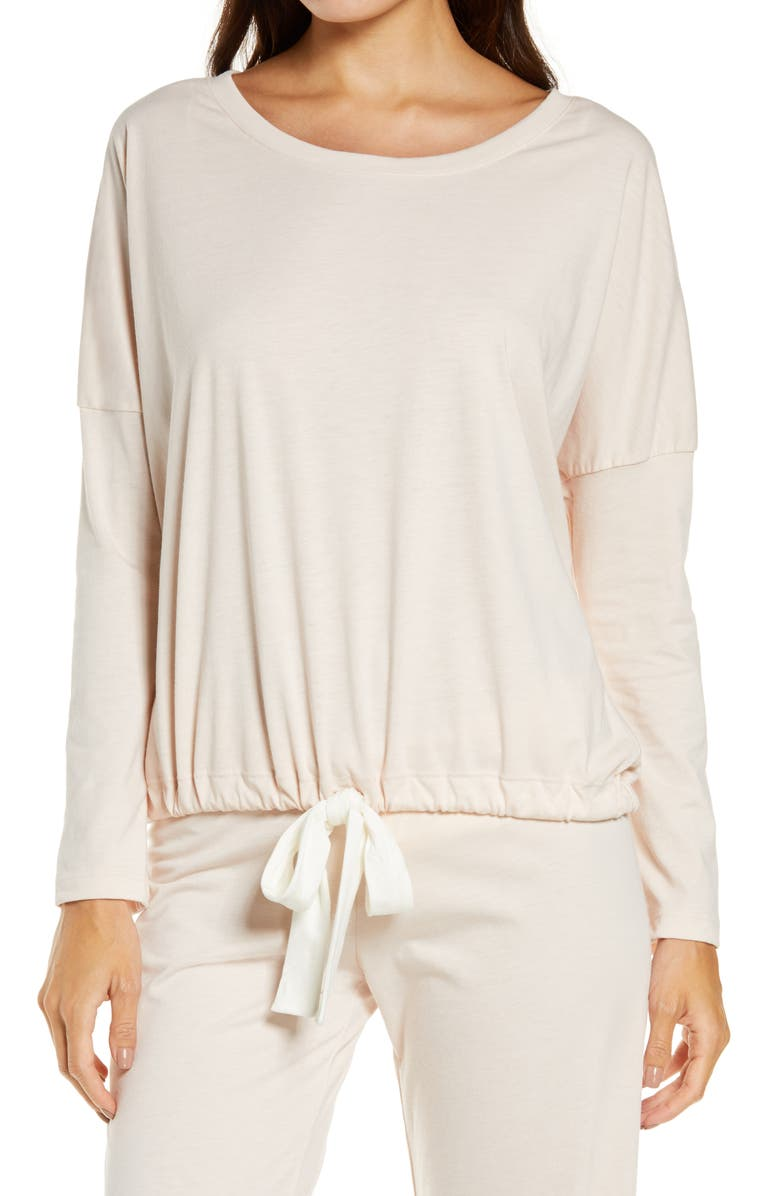 EBERJEY Heather Knit Slouchy Tee, Main, color, SHELL