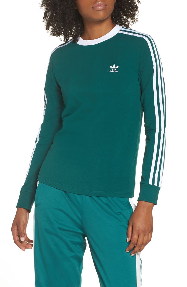 ADIDAS 3-Stripes Long Sleeve Tee, Main, color, 305