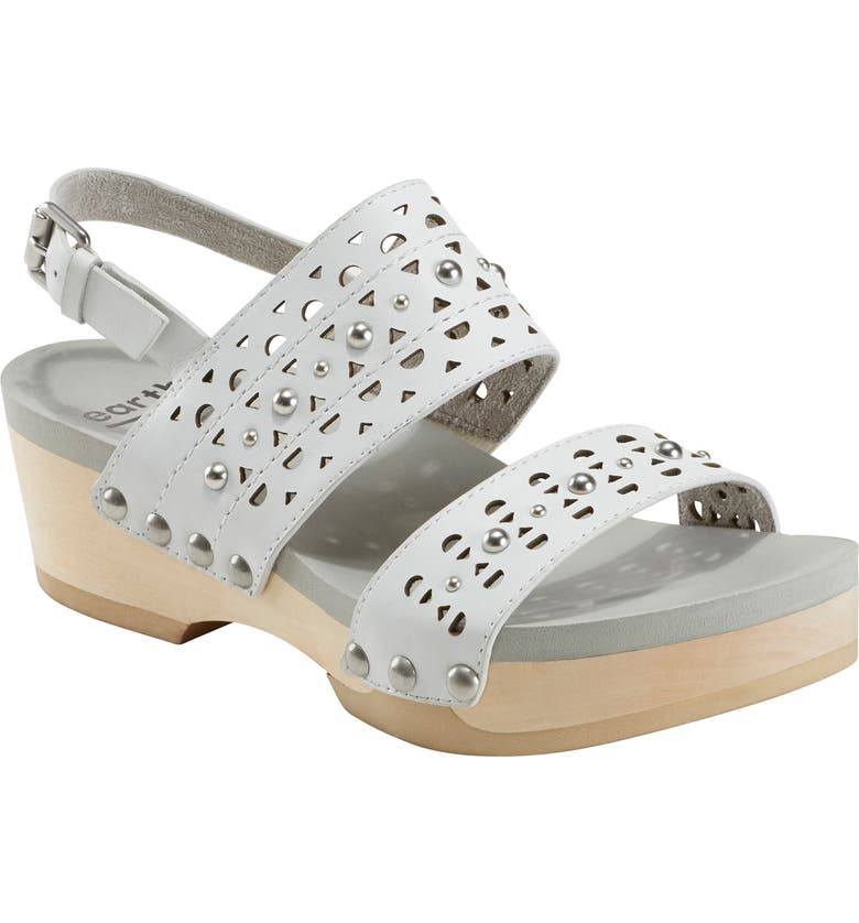 EARTH<SUP>®</SUP> Toba Slingback Platform Sandal, Main, color, WHITE LEATHER