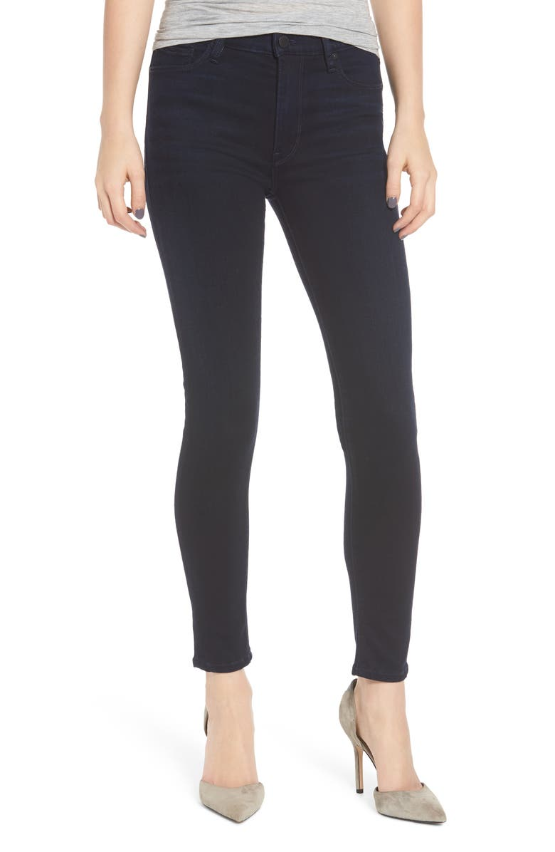 HUDSON JEANS Barbara High Waist Ankle Super Skinny Jeans, Main, color, IDLE