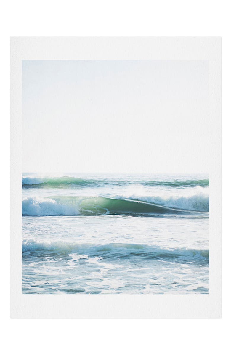 DENY DESIGNS Bree Madden - Ride Waves Art Print, Main, color, BLUE