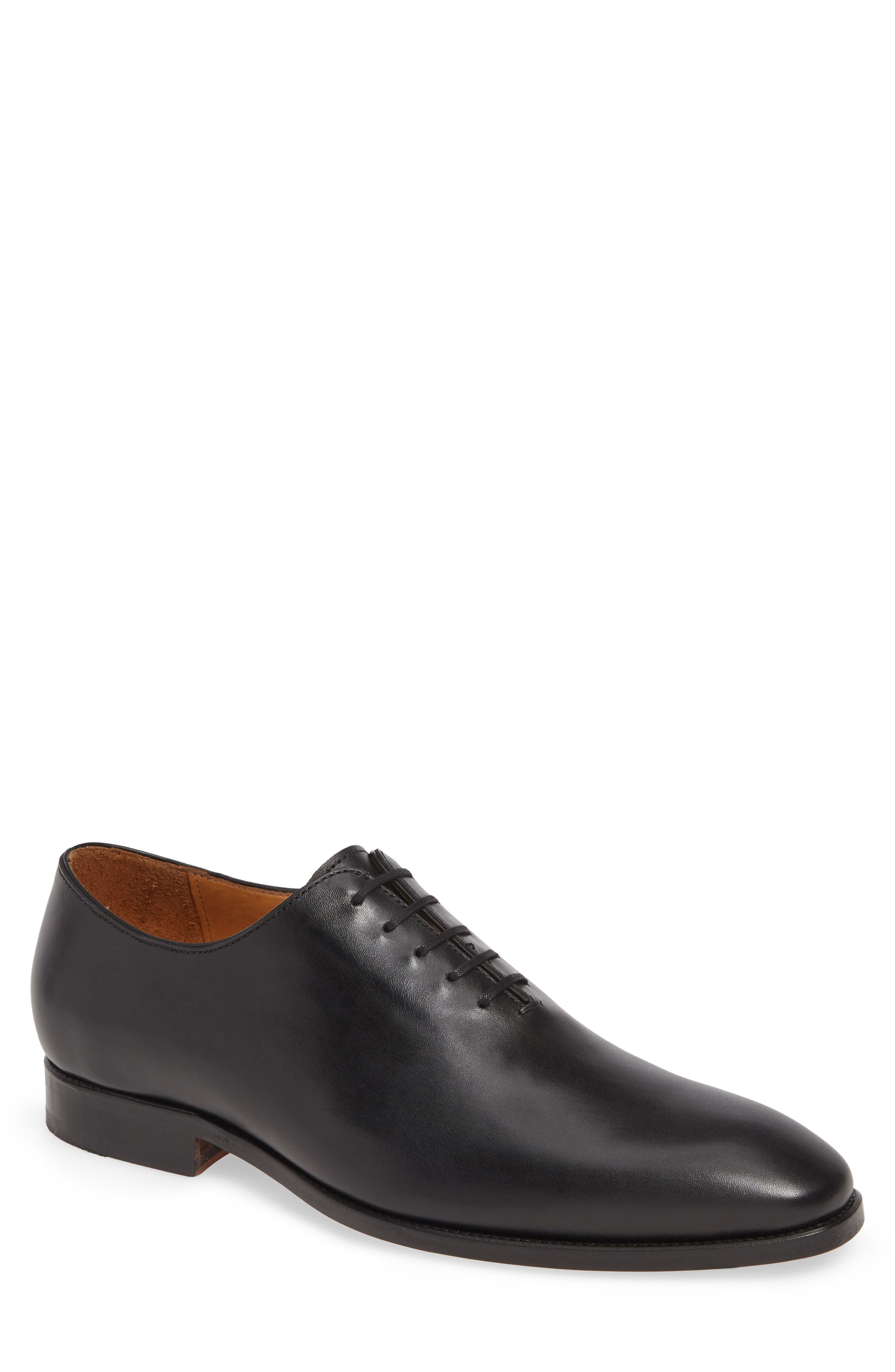 Baxter Wholecut Oxford, Main, color, BLACK LEATHER