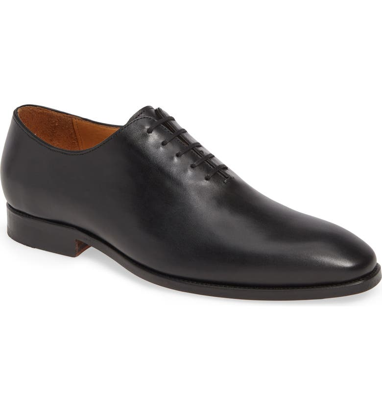 JACK ERWIN Baxter Wholecut Oxford, Main, color, BLACK LEATHER