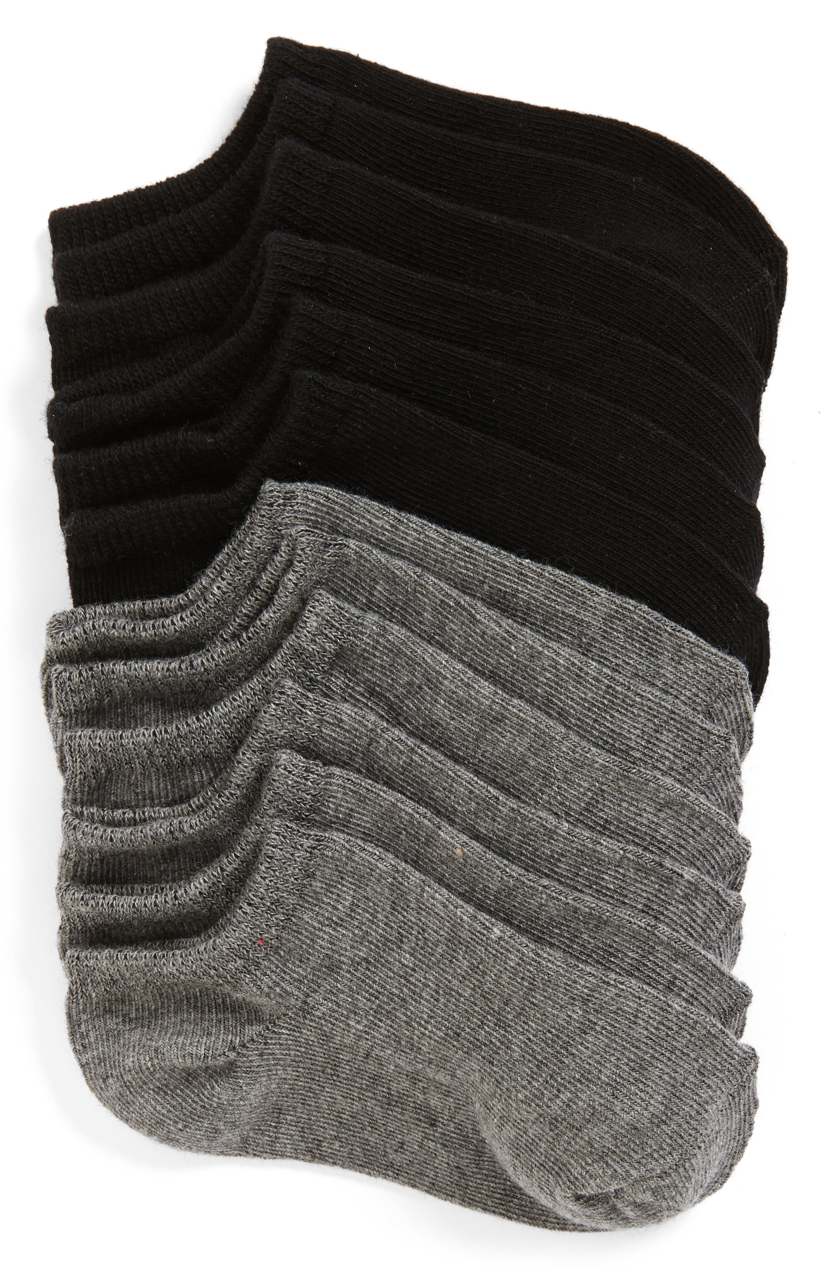 ,                             6-Pack Low Cut Socks,                             Main thumbnail 1, color,                             MULTI