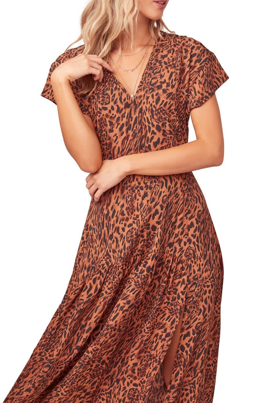 e6bcfecdf9 ASTR the Label Beau Animal Print Maxi Dress | Nordstrom