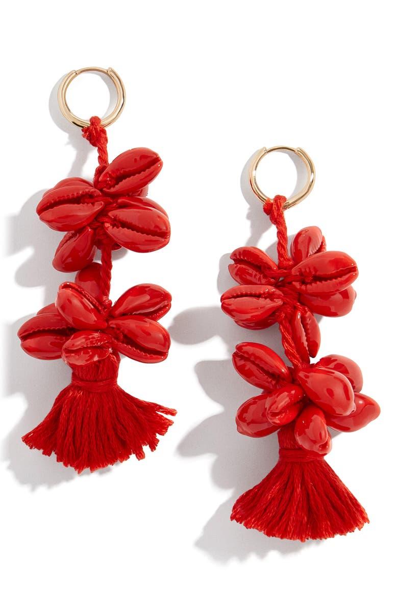 BAUBLEBAR Nalani Drop Earrings, Main, color, RED