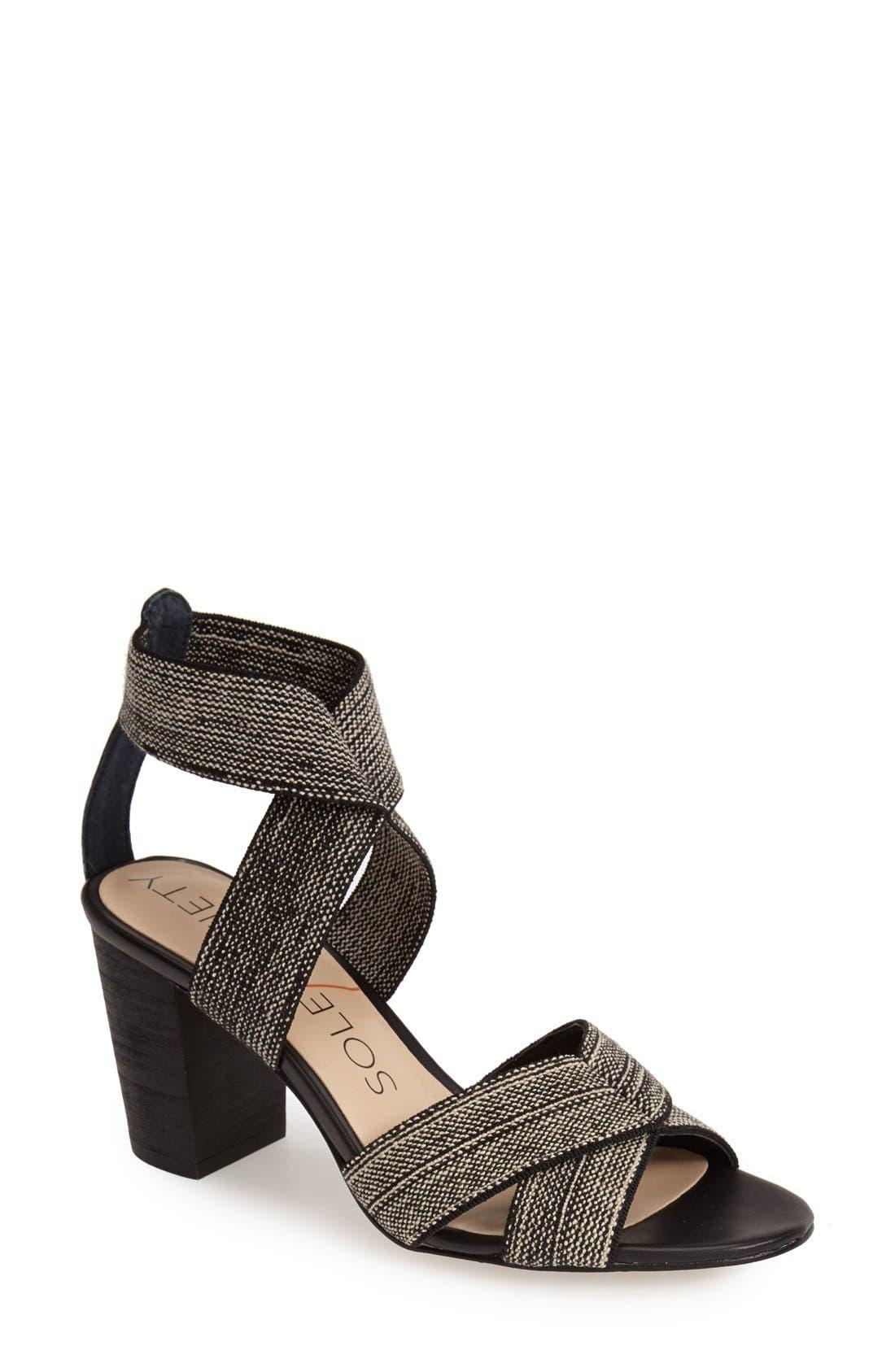,                             'Joesy' Block Heel Sandal,                             Main thumbnail 5, color,                             002