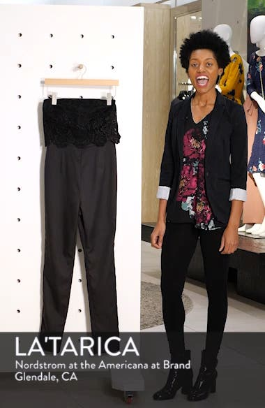 Emmie Strapless Popover Lace Bodice Jumpsuit, sales video thumbnail