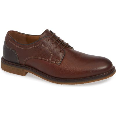 Johnston & Murphy Copeland Plain Toe Derby, Brown