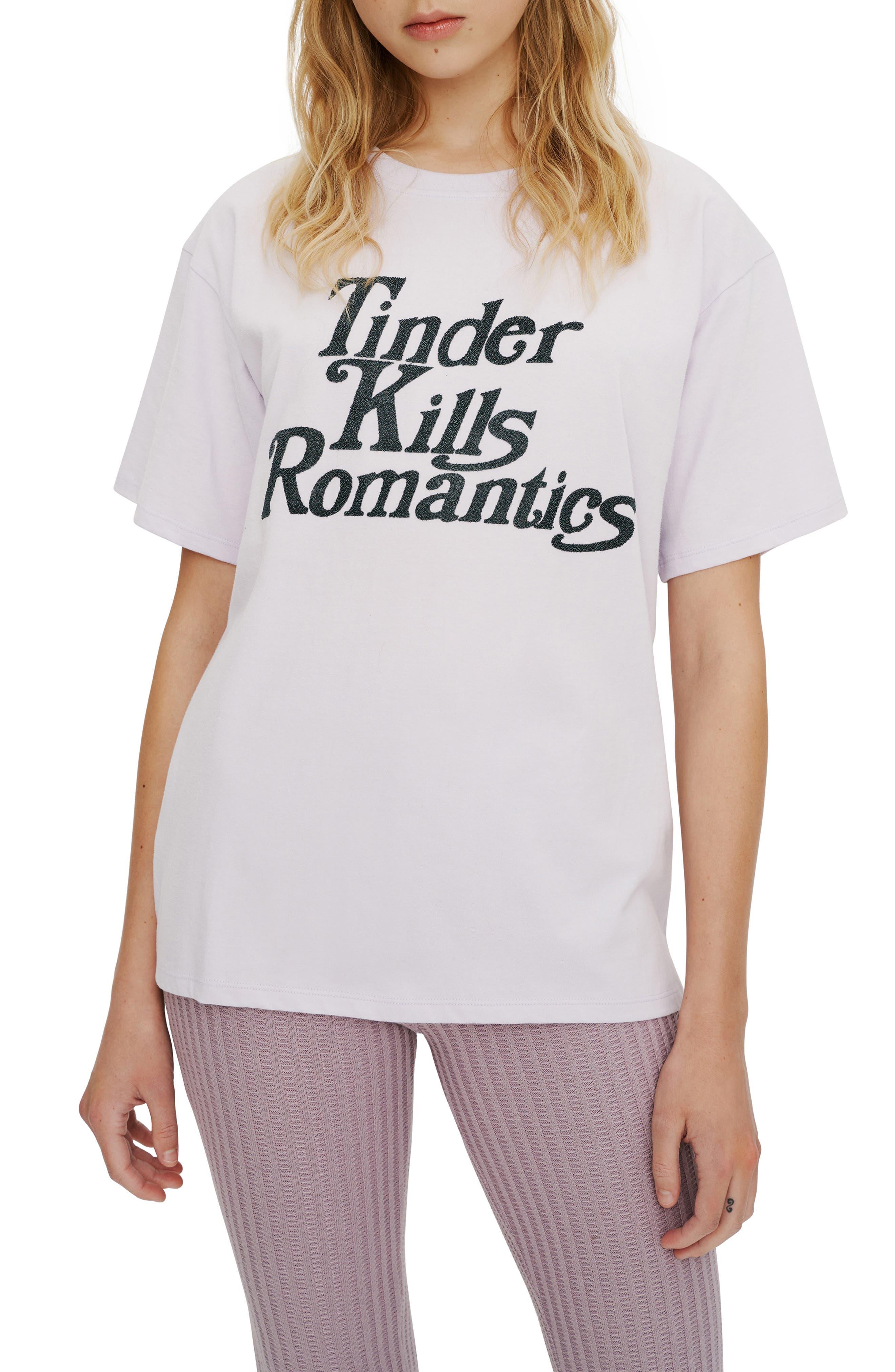 Tinder Kills Romantics Graphic Tee