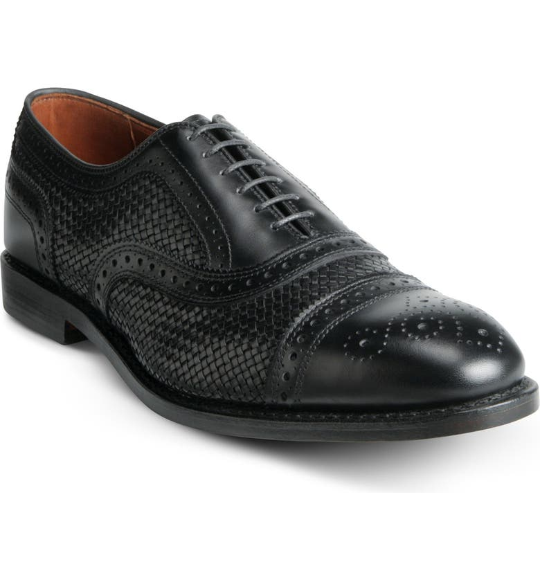ALLEN EDMONDS Strand Weave Toe Oxford, Main, color, BLACK