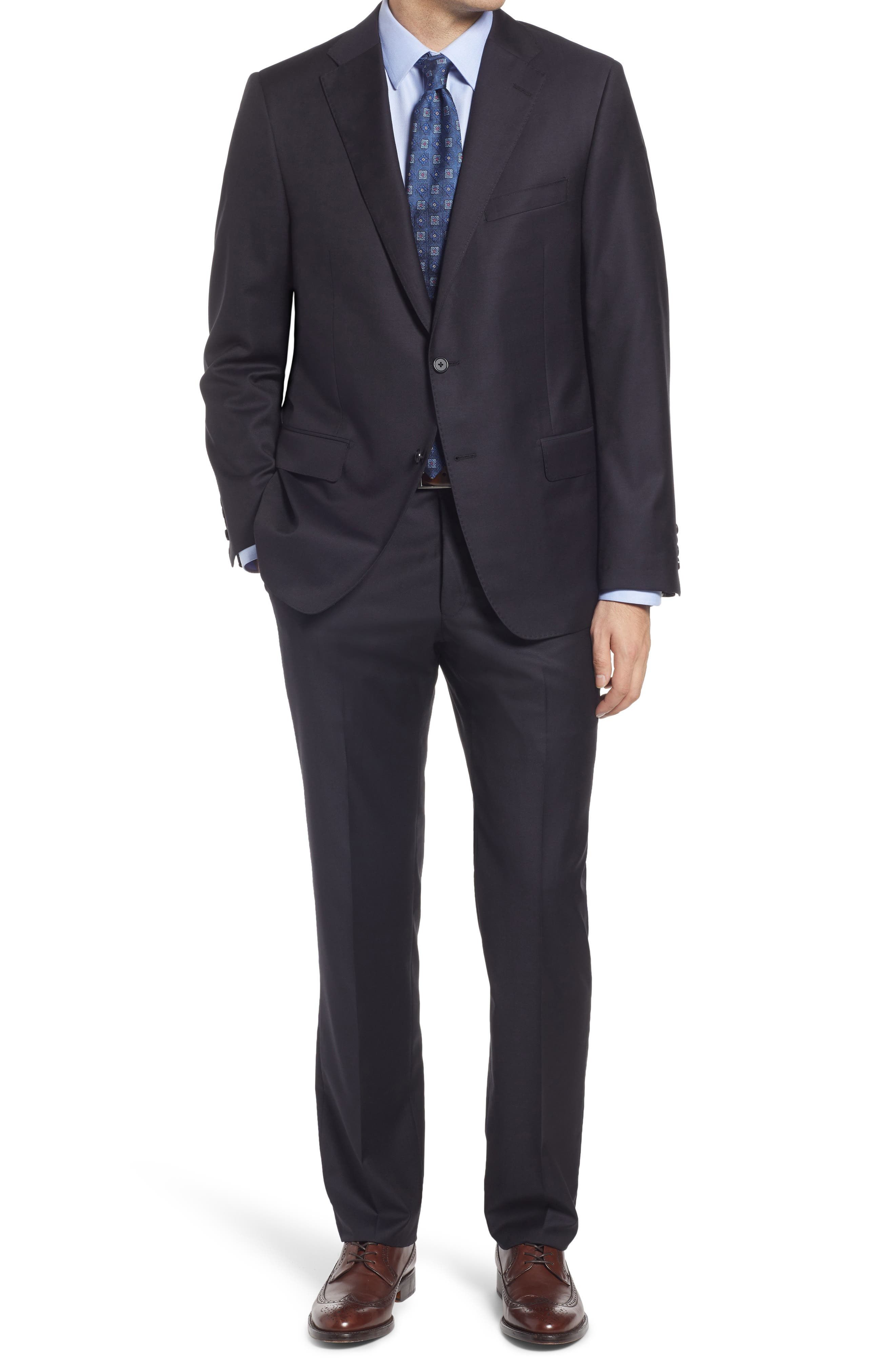 Infinity Classic Fit Solid Wool Suit